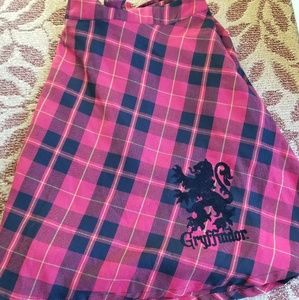 Harry Potter Gryffindor Skirt + Suspenders